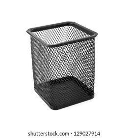 black basket on a white background