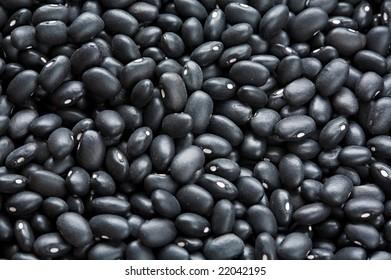 Black beans close-up