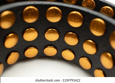 Black belt with gold dots