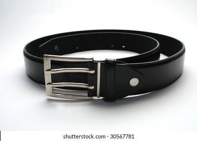 Black belt isolated on a white background
