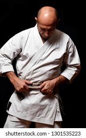Black belt martial arts master portrait