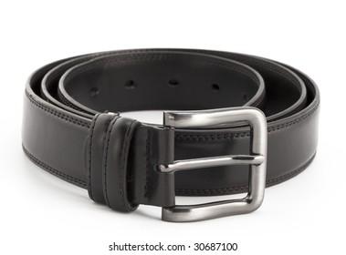 Black belt with white background