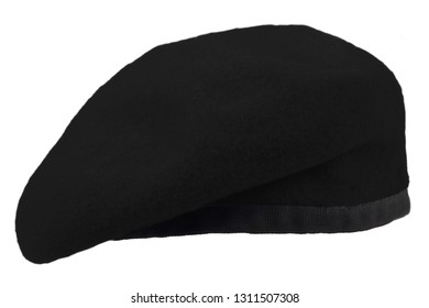 black beret isolated on white background