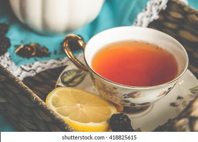 black berry lemon tea
