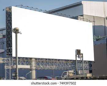 Black billboard on express way in Praram Nine area