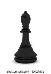 black bishop. 3d chess  game