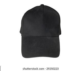 Black blank Baseball Cap on white ground