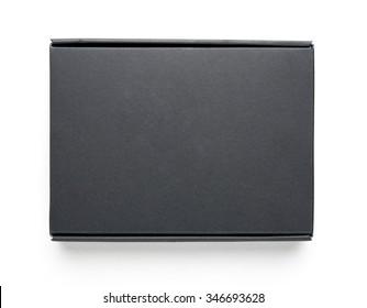 Black blank box isolated on white background
