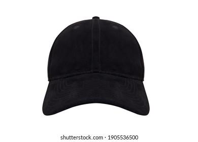 black blank modern cap isolated on white background