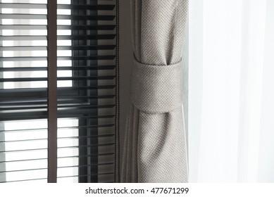Black Blinds window decoration interior of room