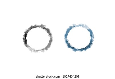 Black and blue smoke ring