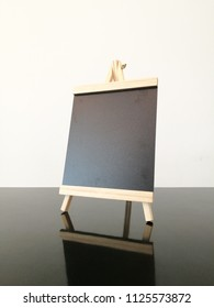 black board display on the table