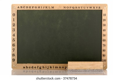 black board with duster