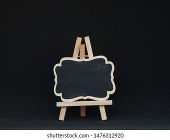 Black Board on Easel Front View