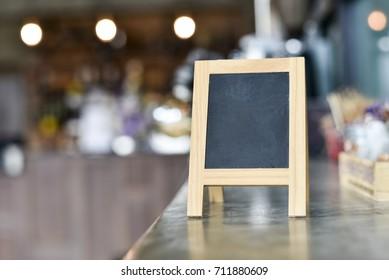 Black board for order in cafe