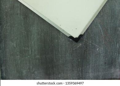 black board and white board texture