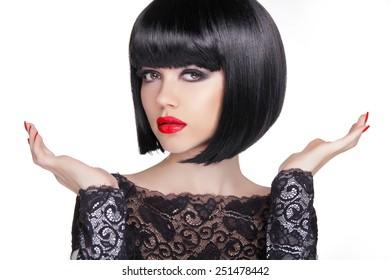 Bilder Stockfoton Och Vektorer Med Bob Hairstyles