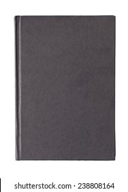 Black book cover isolated on white background