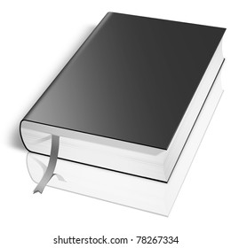 Black book.  Isolated on white.