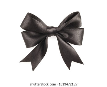 Black bow isolated on a white background