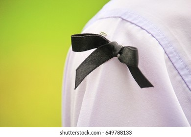 black bow ribbon