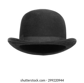 Black bowler hat isolated on white background. d533aa7bfc2