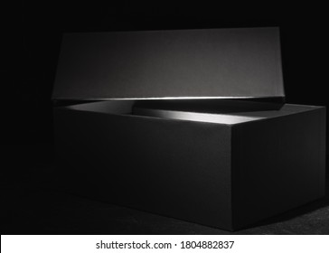 Black box with a glow from the inside
