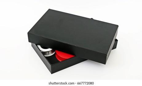 The black box on white background.