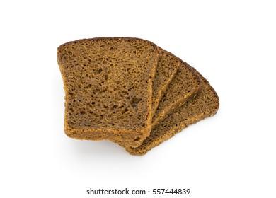 Black bread on white