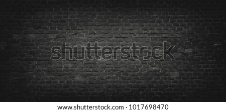 Black Brick Texture Dark Stone Wall Surface For Background Vintage Wallpaper And Backdrop