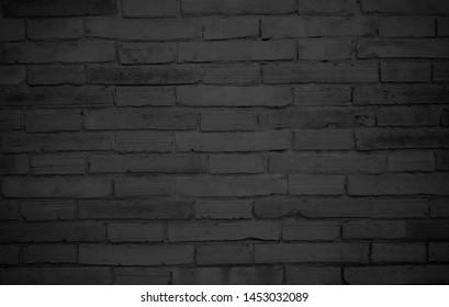 Black brick wall as background