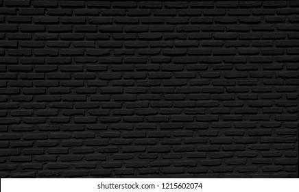 Black brick wall background, horizontal, architecture , wallpaper