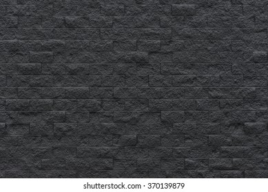black brick wall background, Ready for product display montage.