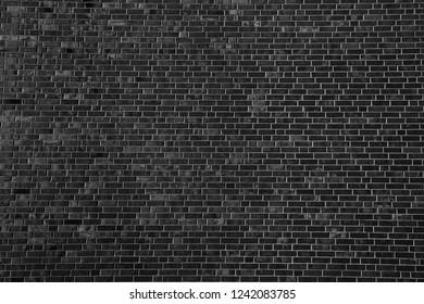 black brick wall background texture