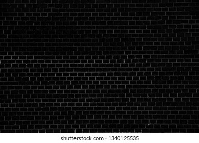 Black brick wall background or texture