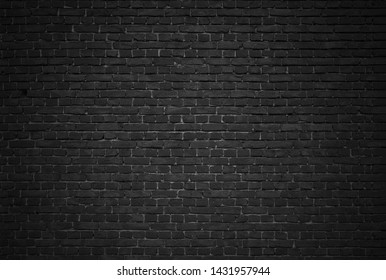 Black brick wall background or textured