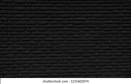 Black brick wall concrete  background  horizontal, architecture , wallpaper texture construction building for Quality art