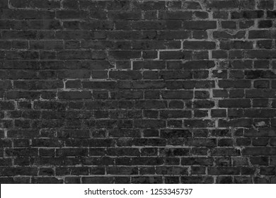 Black brick wall concrete background  old vintage  horizontal architecture dark wallpaper texture construction building for Quality art concrete material (2)