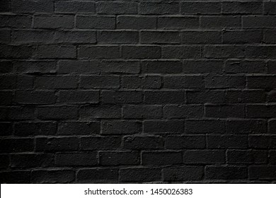black brick wall may used as background