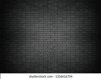 Black brick wall texture brick surface background wallpaper