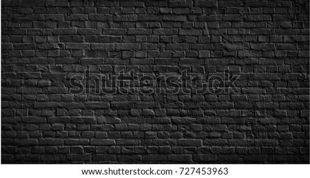 black brick wall texture brick surface の写真素材 今すぐ編集