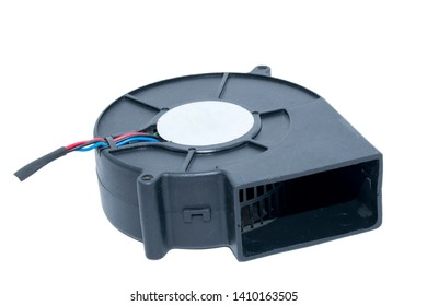 Black Brush less 12v DC Air blower white background