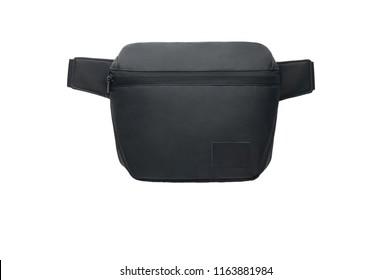 Black bum bag for travel