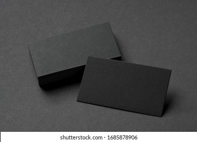 black business cards, blank corporate identity mockup