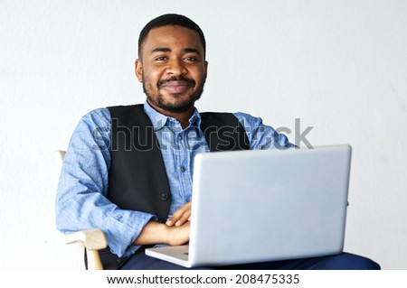 black business man with notebook 03