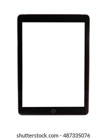 Black Business Tablet Similar To iPad Air Isolated