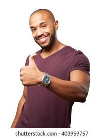 black businessman happy expression - Shutterstock ID 403959757