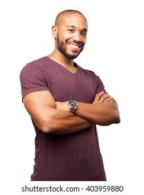 black businessman happy expression - Shutterstock ID 403959880
