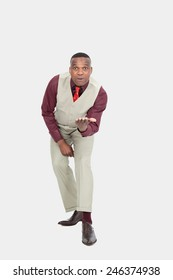 Black businessman posing