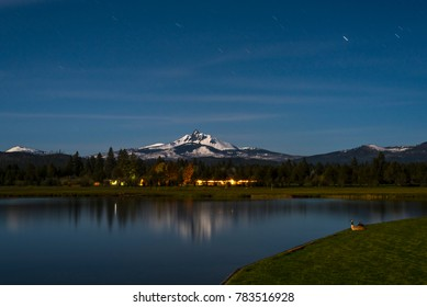 Black Butte Ranch at Night with Geese,